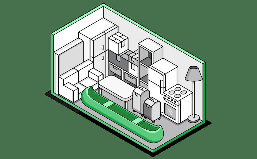 El trastero grande de Trastero Málaga es lo que se puede entender cómo un guardamuebles ó un espacio para almacenar mobiliario del hogar, grandes electrodomésticos ó incluso palets con mercancía.